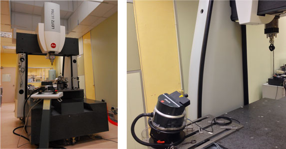 LEFT:CMM  /  Right:Self-tracking Laser Interferometer